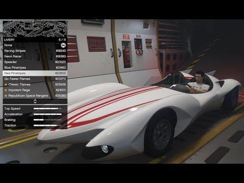 GTA 5 - DLC Vehicle Customization - Declasse Scramjet (Speed Racer Car (Mach 5)