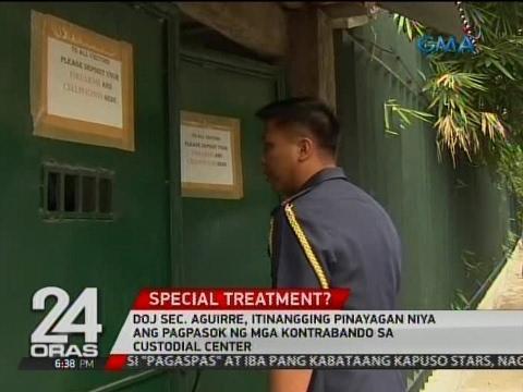 24 Oras: Mga kontrabando, naipapasok umano sa Custodial Center sa Camp Aguinaldo