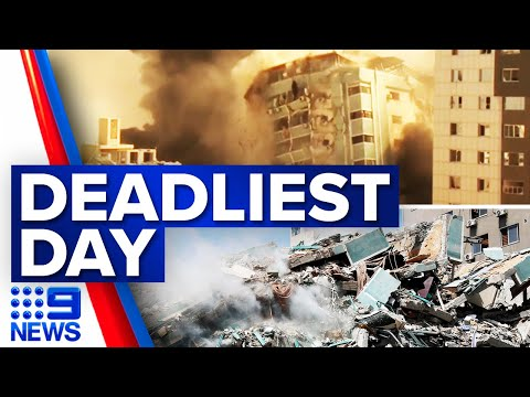 Forty-two dead in latest Israeli airstrikes | 9 News Australia