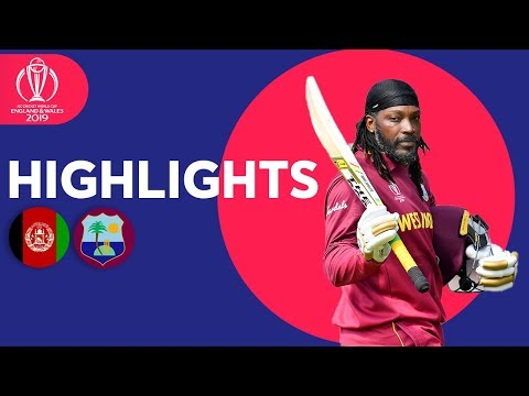 Gayle's Last CWC Match! | Afghanistan V West Indies - Highlights | ICC Cricket World Cup 2019