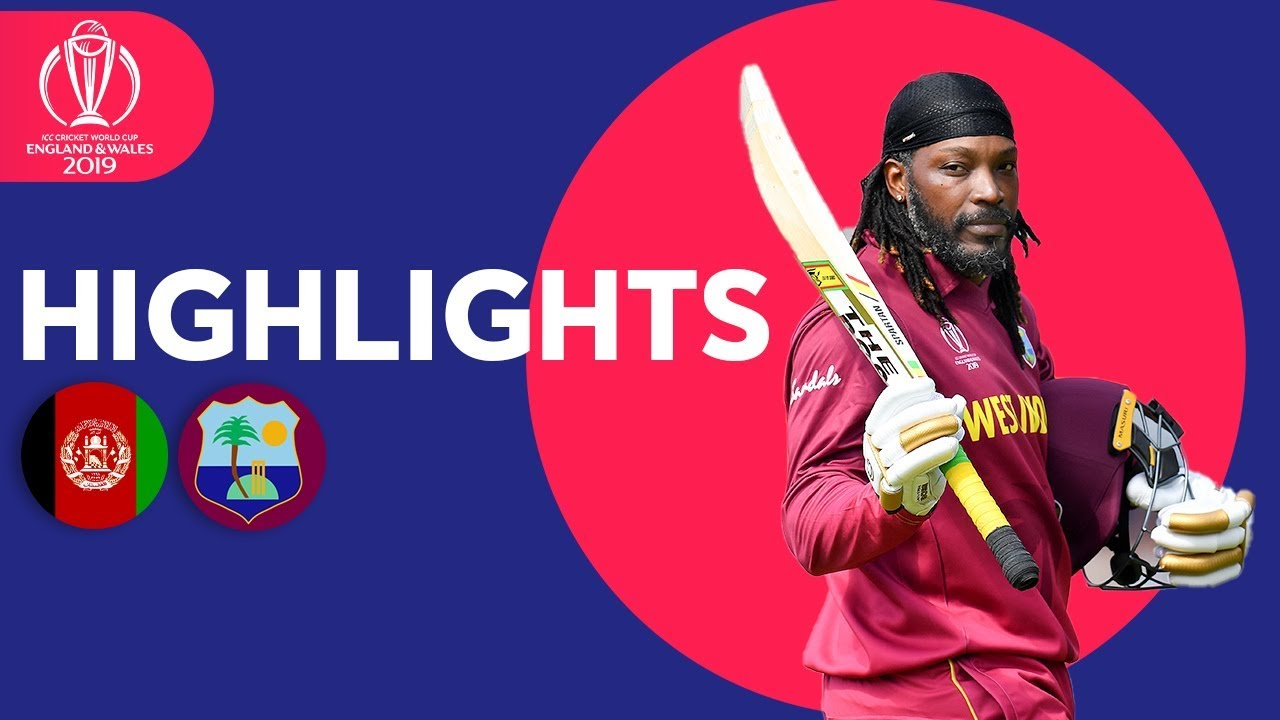 Afghanistan v West Indies - Match Highlights | ICC Cricket World Cup 2019