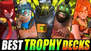 *NEW!* TOP 5 STRONGEST DECKS IN CLASH ROYALE! FAST TROPHY DECKS!
