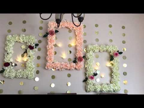 DIY- wall decor |DIY wedding decor| DIY- Wedding frame wreath|Foam board decor