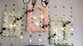 Diy  Wall Decor |diy Wedding Decor| Diy  Wedding Frame Wreath|foam Board Decor