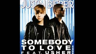 Justin Bieber - Somebody To Love Remix ft. Usher (Official Audio Song)