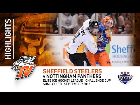 Sheffield Steelers v Nottingham Panthers - EIHL CC - 18th September 2016