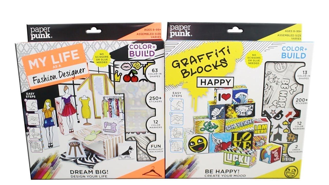 Paper punk graffiti blocks and fashion designer color and for Fashion designer craft sets