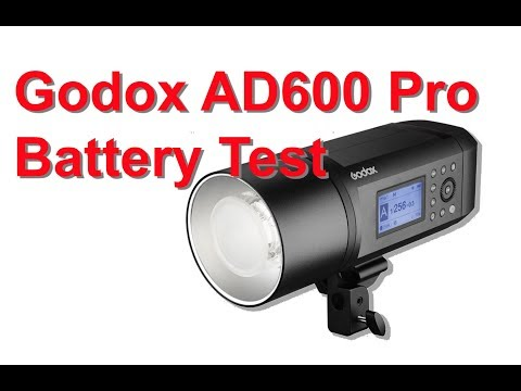 Godox AD600 Pro Battery Test - YouTube