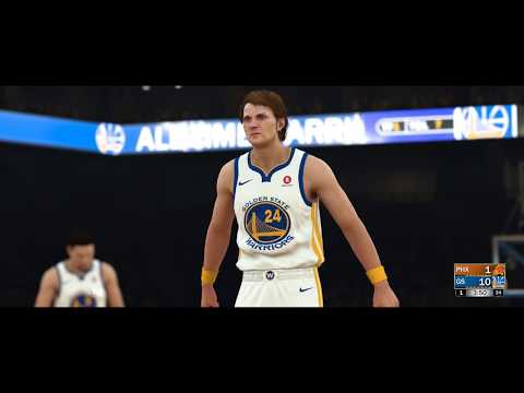 Rick Barry shooting free throws in NBA 2K18
