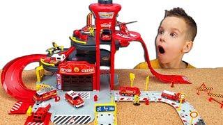 Пожежна Станція - набір з машинками Majorette Розпакування та огляд іграшки з Нік Турбо