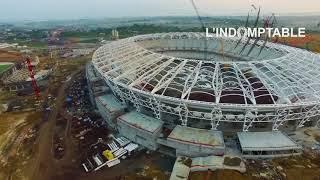 L'avancement du stade Japoma à Douala