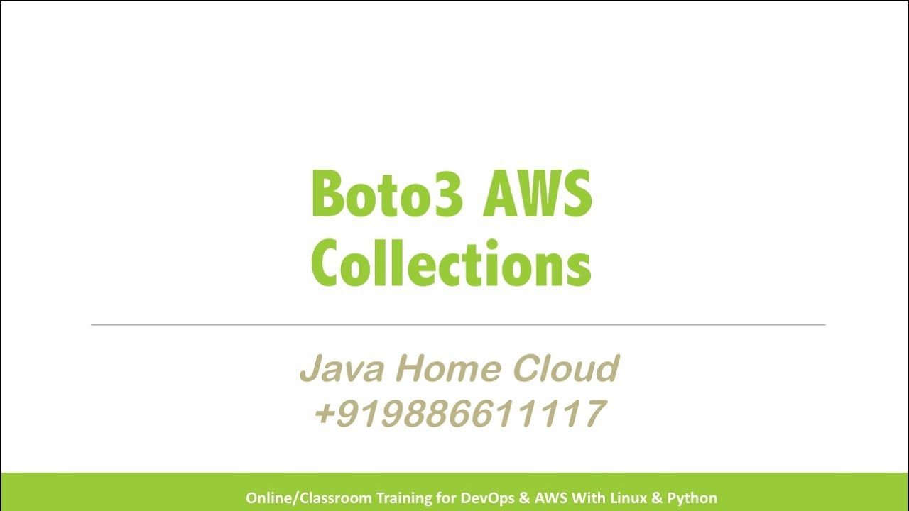 AWS - Boto3 Collections