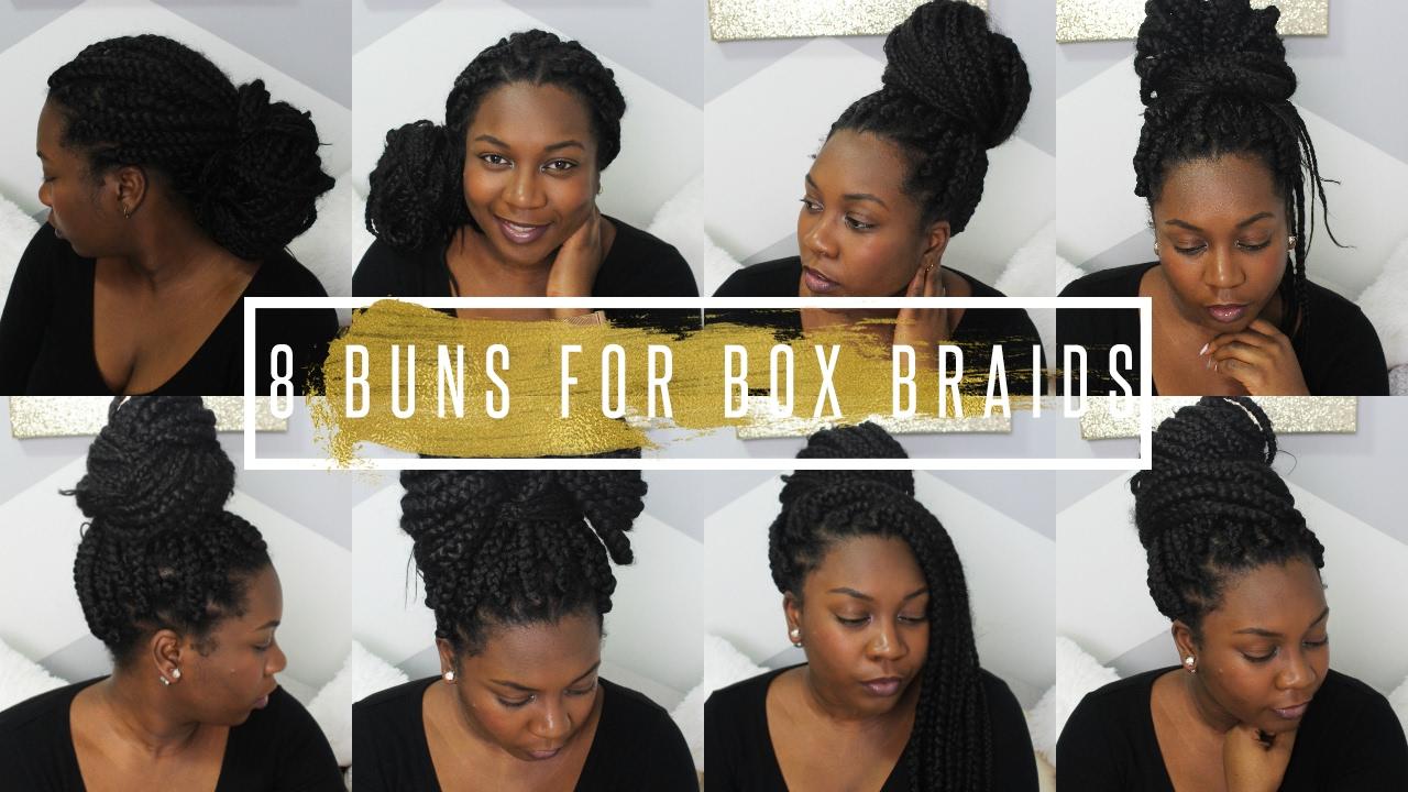 how i style my box braids / box braids bun styles / easy bun tutorial // hair