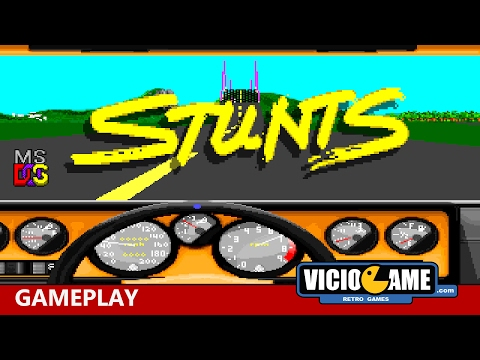 🎮 Stunts (MS-DOS) Gameplay