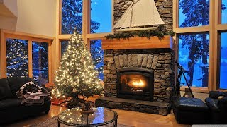 Christmas Carols 2019 🎅 Happy Christmas Jazz Songs With a Fireplace