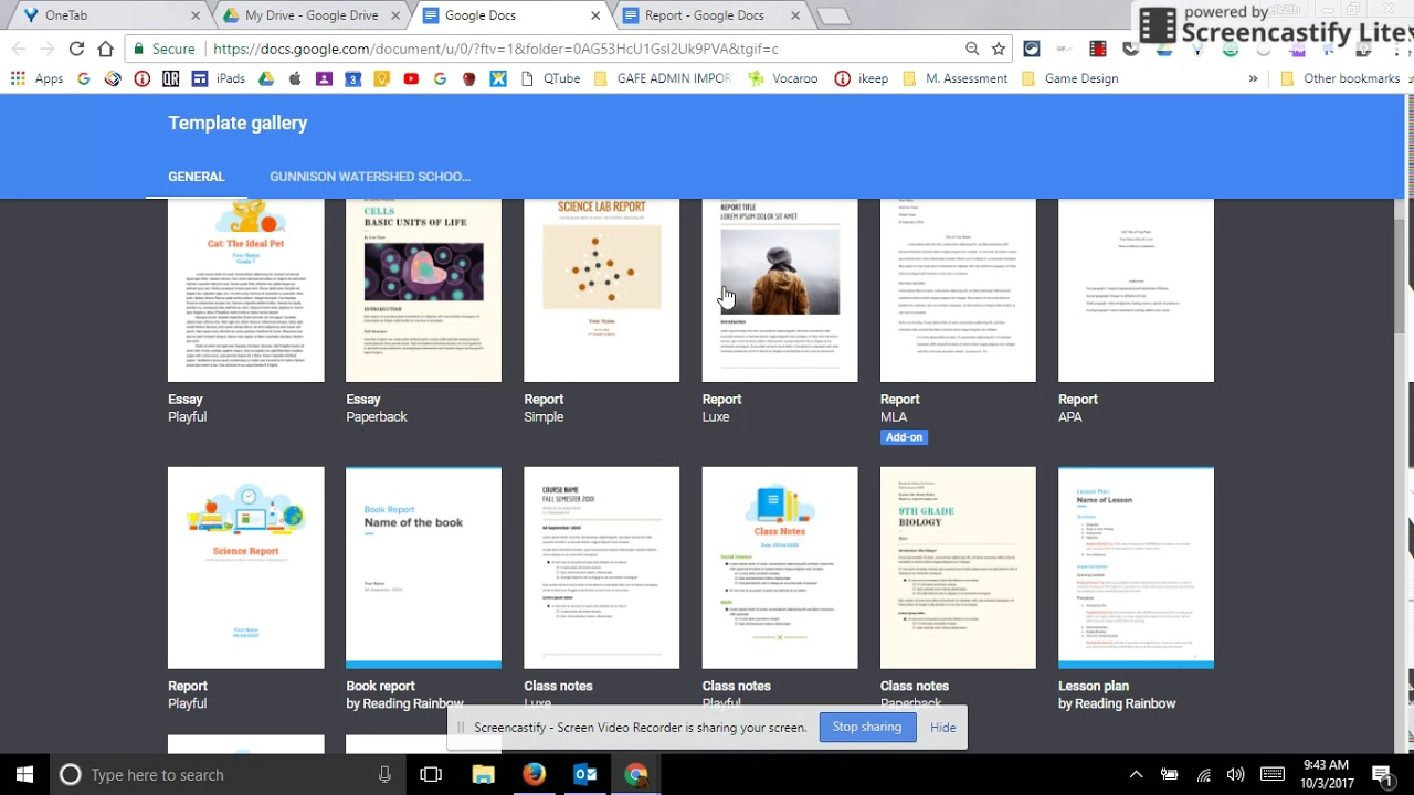 Templates in Google Docs and Creating Your Own!