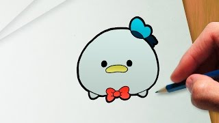 How to draw Donald Duck Disney Tsum Tsum version