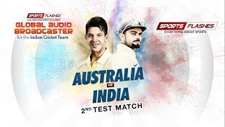 Live India vs Australia 2nd Test #Cricket Match Commentary from stadium | #SportsFlashes