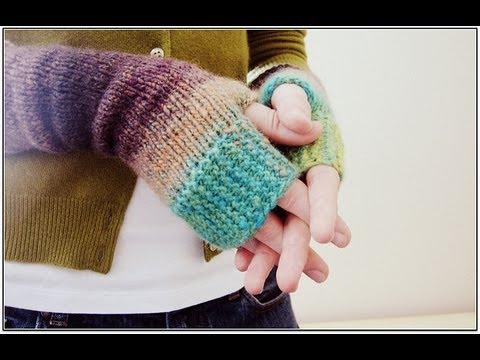 Knitting Tutorial Fingerless Mittens