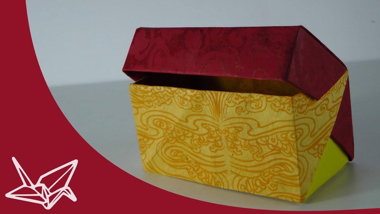 Origami Schachtel Mit Deckel Faltanleitung Youtube