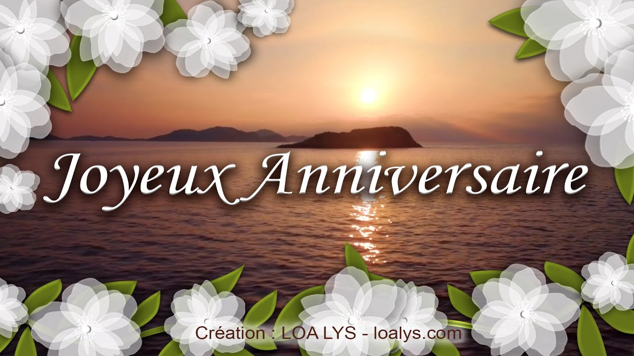 joyeux anniversaire jolie carte virtuelle anniversaire gratuite youtube. Black Bedroom Furniture Sets. Home Design Ideas