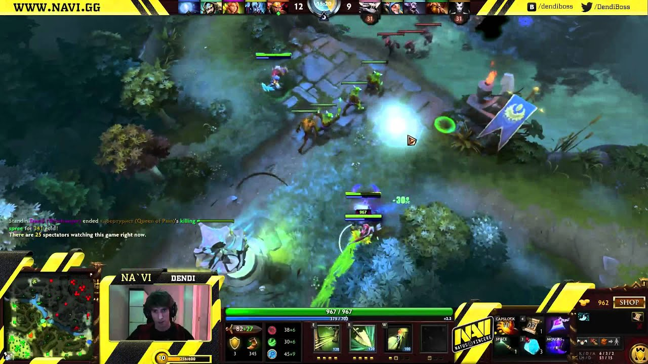 Dota 2 Stream NaVi Dendi Windranger Gameplay