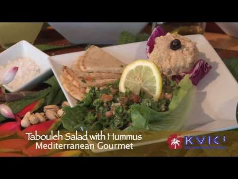 Tabouleh Salad Demo - Mediterranean Gourmet in Haena - KVIC-TV, myKauai.com [Chef Demo]