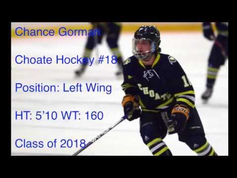 Chance Gorman Choate Hockey Highlights 2016 - 2017