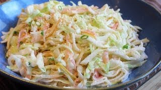 Pickled Ginger Asian Pear Coleslaw - Thanksgiving Holiday Side Dish Recipe Idea