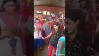 Water dance by lady in Holi