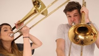 TROMBONE PLAYING: CHALLENGE JIM WITH ZOELLA