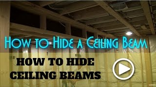 How to Box In Basement Beams (How to Frame a Basement Beam)