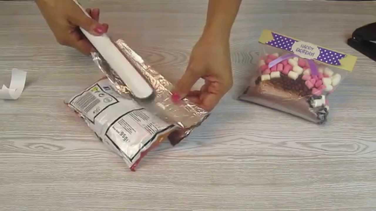 Sellado de bolsas de pl stico youtube for Como pegar plastico
