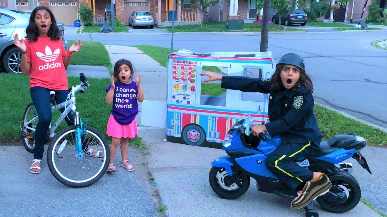 Download Police Buy Ice Cream from the Ice Cream Truck!! Kids Pretend Play part 2