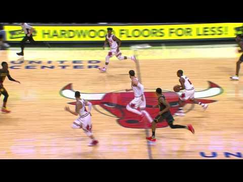 Jimmy Butler Hurdles Over Defender During Fast Break | 04.01.17