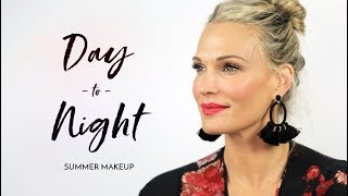 Beach To Dinner Vacation Makeup Tutorial | Molly Sims 2018