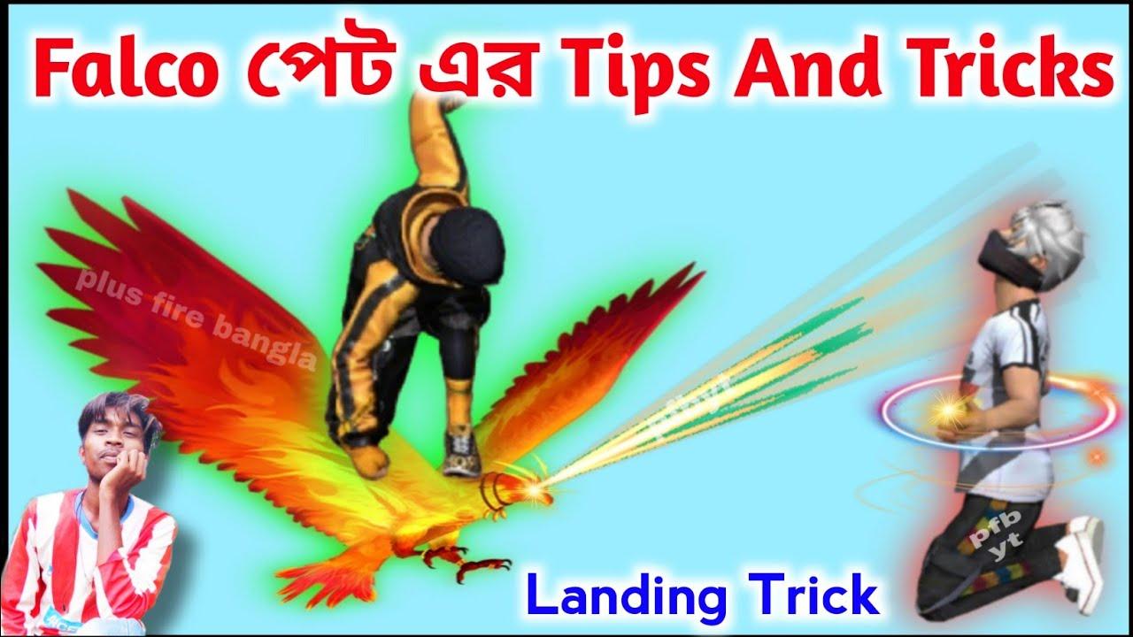 Falco pet tips and tricks free fire || Falco pet landing track in free fire || plus fire bangla