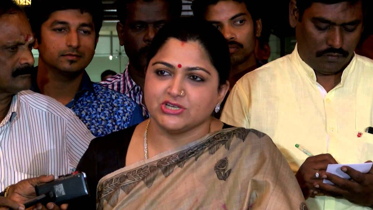 kushboo and karunanidhi relationship trust