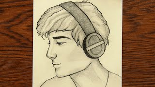 boy drawing handsome easy sketch face draw pencil male