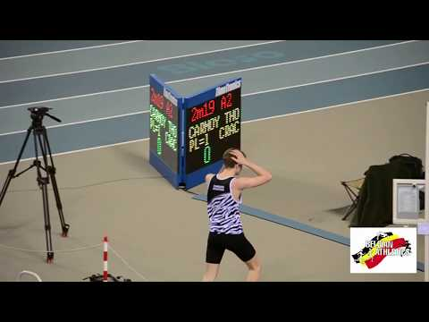 Belgian athletics indoor championships High Jump: National Record U20 Carmoy 2m19