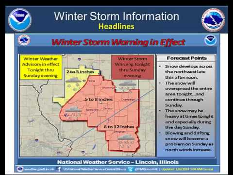NWS Lincoln - MultiMedia Briefing 01-04-2014