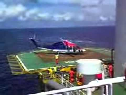 FPSO KIKEH - FIRST CHOPPER LANDING