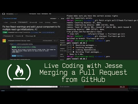 Merging a Pull Request from GitHub - Live Coding with Jesse