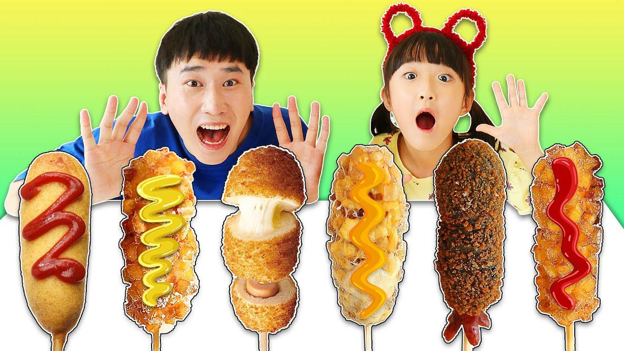 맛있는 핫도그 먹방!! 명랑핫도그 신상 따따블치즈핫도그 모짜맵구마 Mukbang hot dog challenge 슈슈토이 Shushu ToysReview