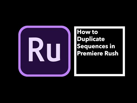 How to Duplicate Sequences in Premiere Rush