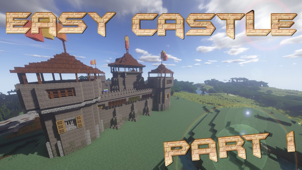 How To Make A Castle In Minecraft Minecraft Castle Lets Build