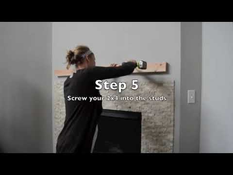 How To Install A Faux Fireplace Mantel Step By Step