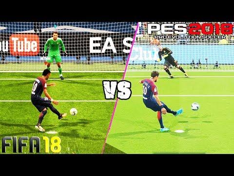 FIFA 18 vs. PES 18:  Penalty Kicks