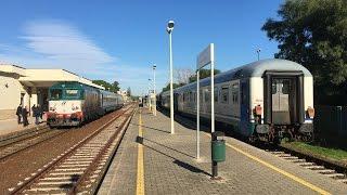 Incrocio dei treni IC 559 e 562 nella stazione di Locri (RC)