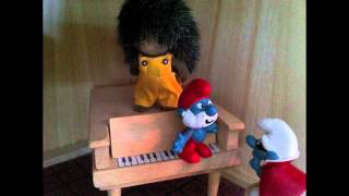 The Laughing Gnome (David Bowie) Animation Video by Nia Treasure (with smurfs and sylvanians)